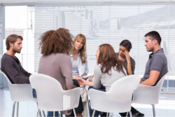 Group of person talking